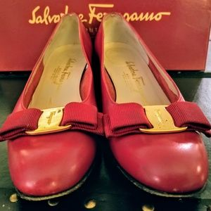 Salvatore Ferragamo Shoes - Salvatore Ferragamo Fancy Red Flats